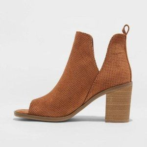 Charlee Microsuede Laser Cut Out Bootie